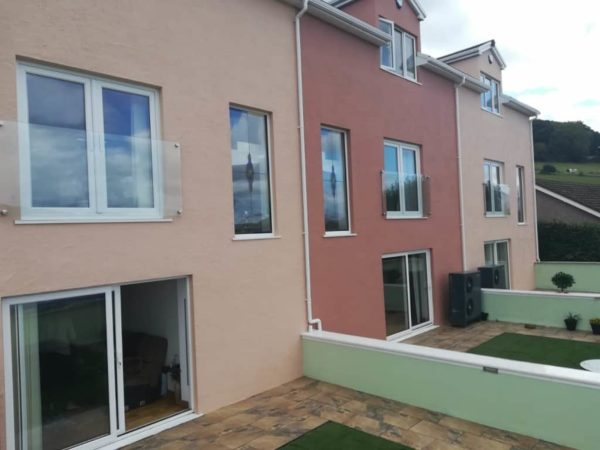 Finished view of the three properties in Colwyn Bay